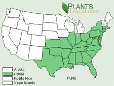 The Map Shows The U S States In Which Kudzu Pueraria Montana Could Be Found In